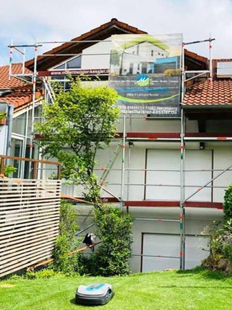 Fassaden Anstrich und Renovierung in Herrenberg 2019 von Malermeister Kessler