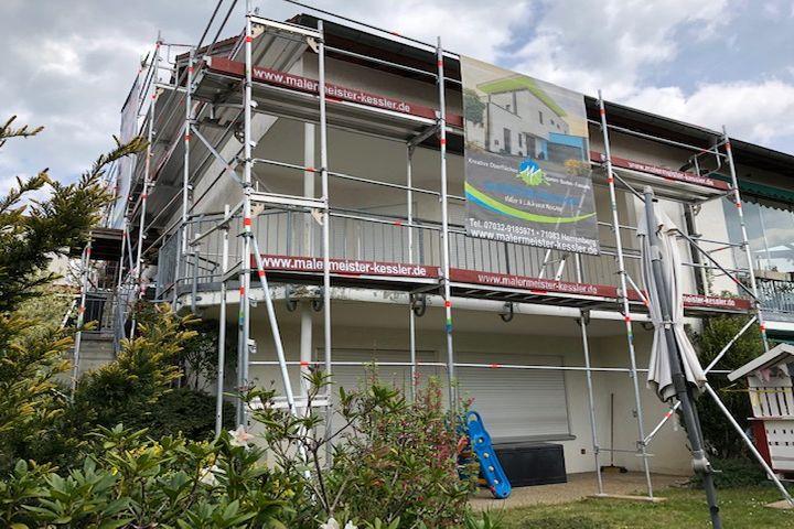 Fassaden Renovierung Sanierung und Anstrich in Aidlingen von Malermeister Kessler 2019
