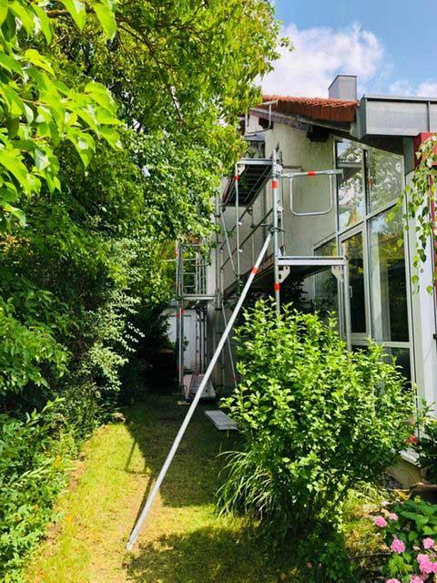 Fassadenrenovierung Doppelhaus in Herrenberg - Kundenprojekte 2019 Malermeister Kessler