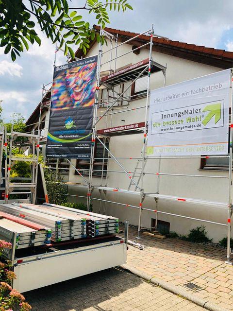 Fassadenrenovierung von Malermeister Kessler im Juli 2019 in Herrenberg