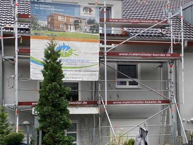 Gerüst für Fassadearbeiten 2020 in Nebringen von Malermeister Kessler aus Herrenberg