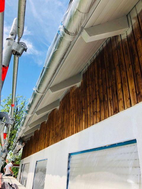 Hauswand mit Fassadenrenovierung Malerarbeiten vom Malerbetrieb Kessler aus Herrenberg 2019