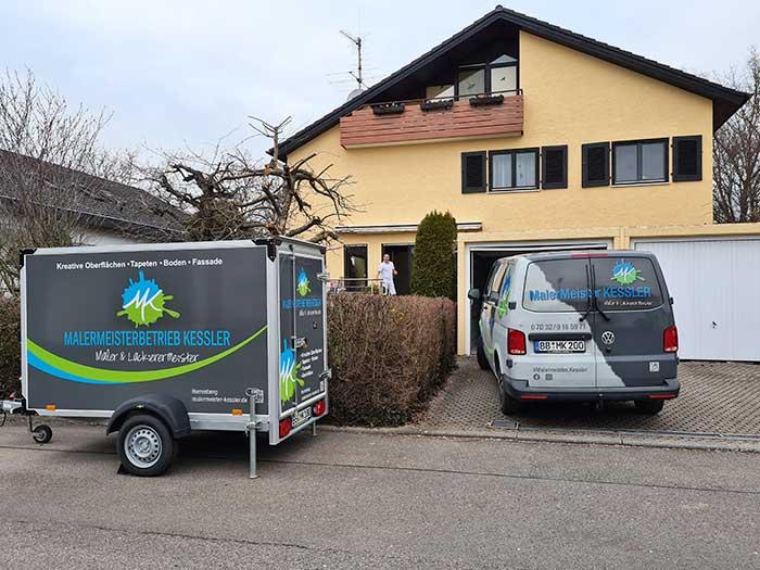 Malerarbeiten 2021 Kundenprojekt Hausrenovierung 2021 in Gültstein