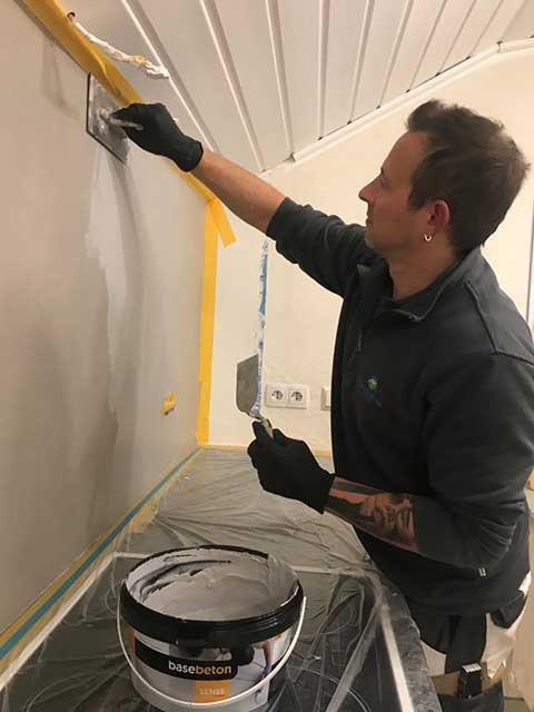 Malerarbeiten Küchenrenovierung und Gestaltung von neuen Oberflächen von Malermeister Mark Kessler