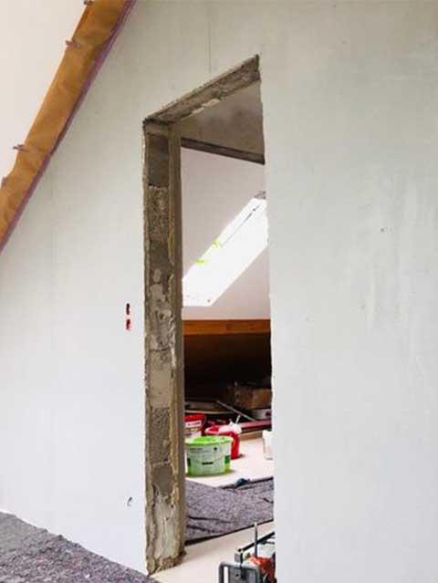 Malerarbeiten an Wänden mit Betonoptik - Malermeister Kessler 2019 in Altdorf