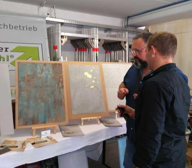 Materialverkauf im Showroom von Malermeister Kessler in Gültstein im Landkreis Böblingen