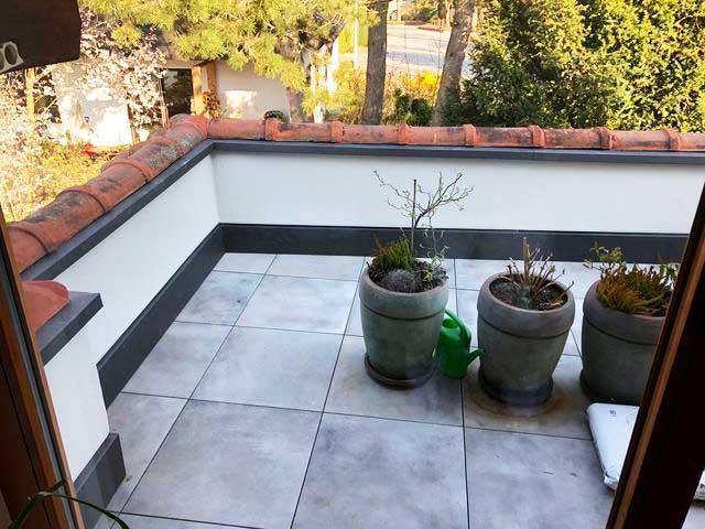 Neue Terrasse in Herrenberg Malerarbeiten von Malermeister Kessler in Herrenberg