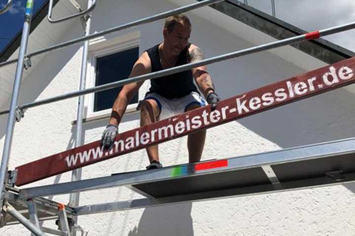 Neuer Fassaden Anstrich 2020 in Nufringen von Malermeister Mark Kessler aus Herrenberg