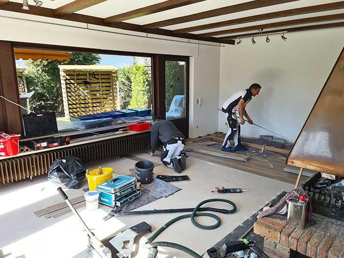 Nivellierung Fußbodenverlegung und Streicharbeiten 2021 von Malermeister Kessler