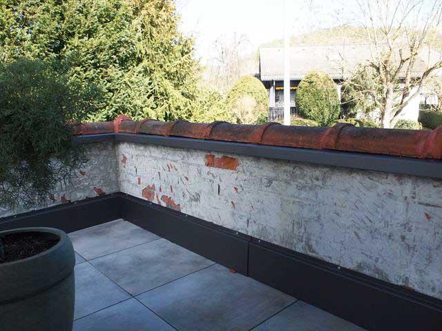 Putzarbeiten vom Maler für eine Terrasse 2020 in Herrenberg